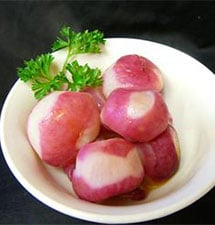 Steamed Radishes