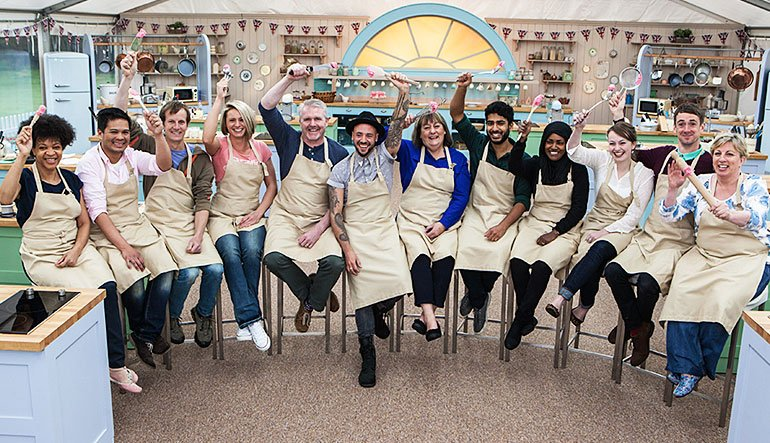 A line-up of the 12 amateur bakers.