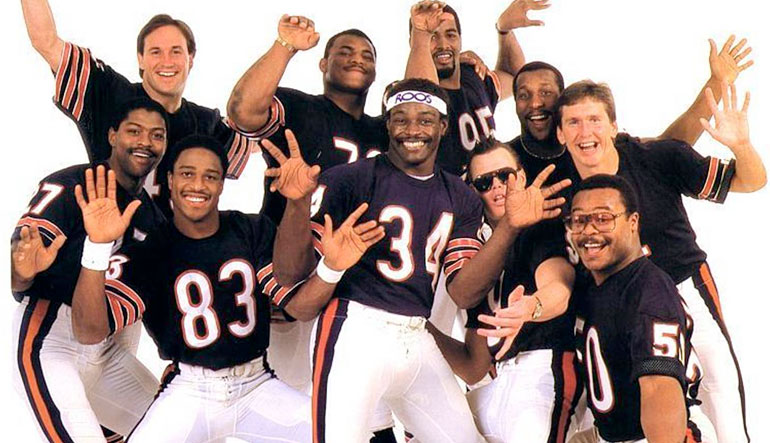 The 1985 Chicago Bears Shufflin' Crew.