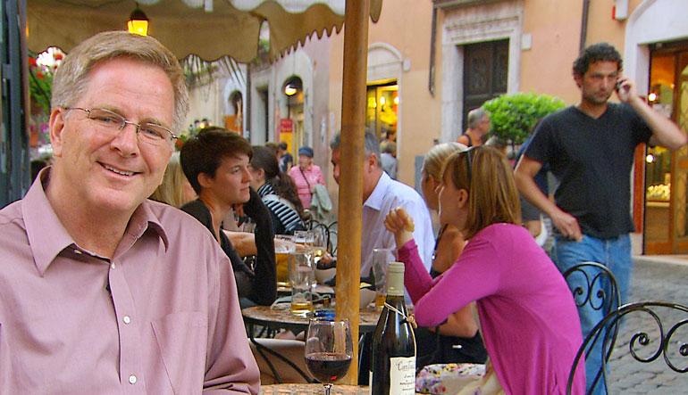 Rick Steves in Italy.