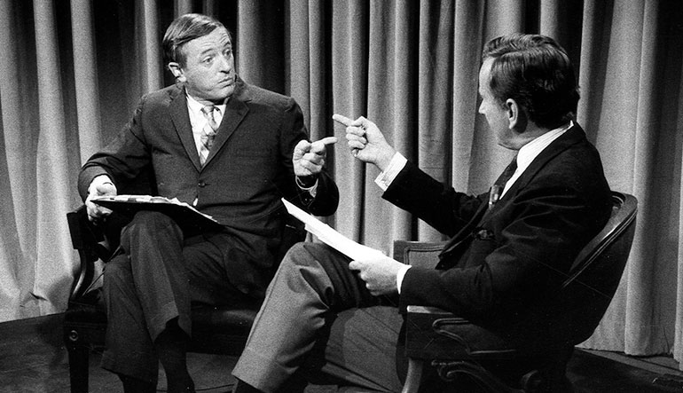 William F. Buckley, Jr. and Gore Vidal.
