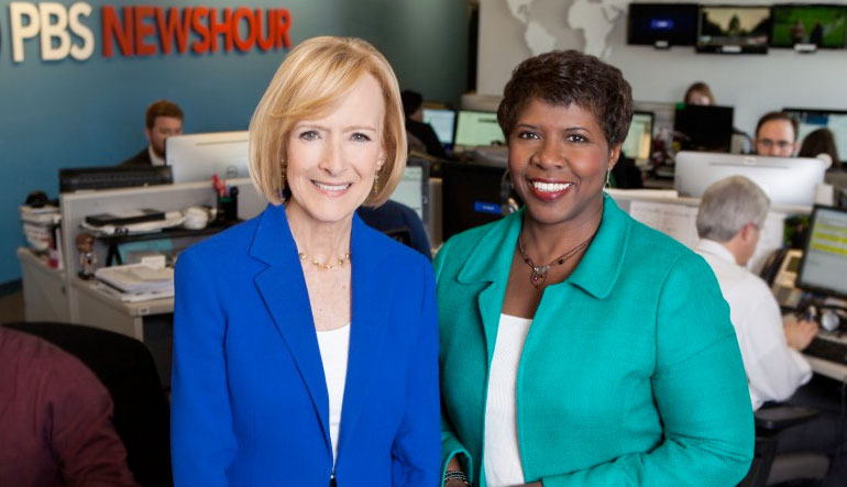 Judy Woodruff and Gwen Ifill.