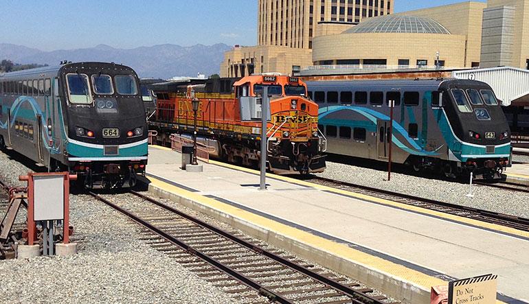 Metrolink trains, CA