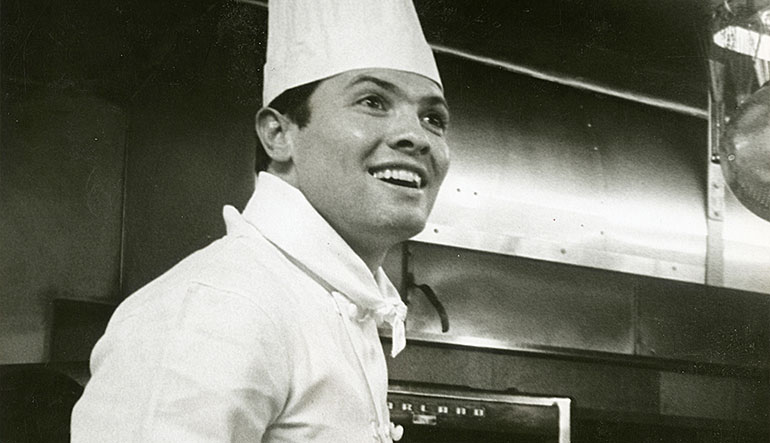 French-born Chef Jacques Pépin, age 29, New York