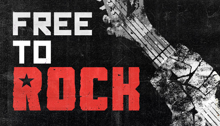 Free to Rock title logo