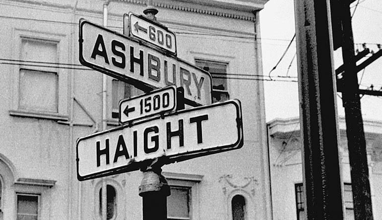 Haight Ashbury street corner in San Francisco.