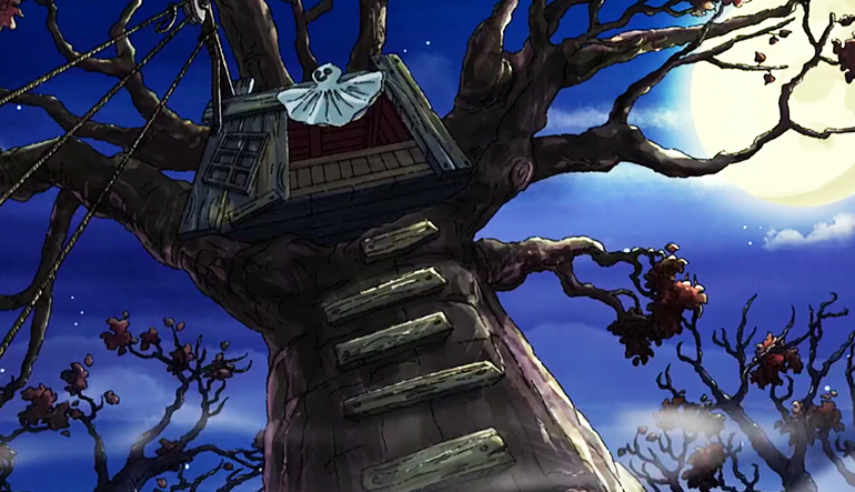 Haunted treehouse.
