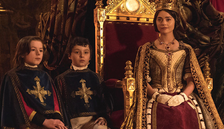 Victoria and two little boys.
