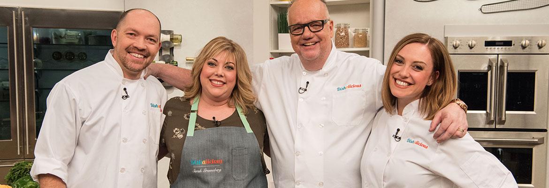 Chefs Giuseppe Tentori, Sarah Grueneberg, Tony Mantuano, and Leigh Omilinsky.