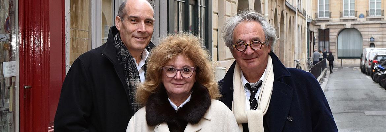 Geoffrey Baer with Marc and Nada Breitman.