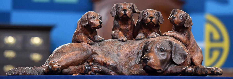 Walter Mader Black Forest Carved Dogs.