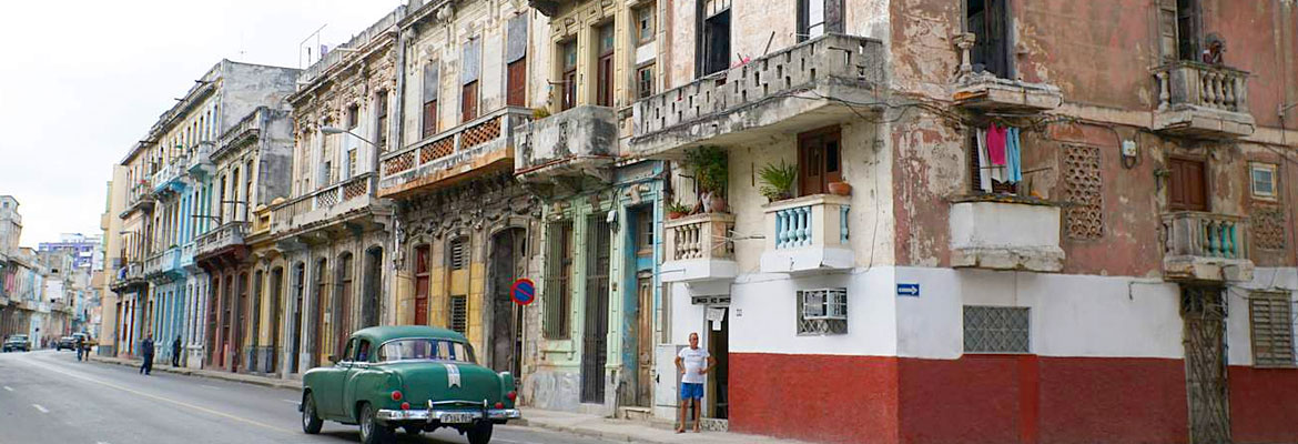 Ailing buildings in Havana.