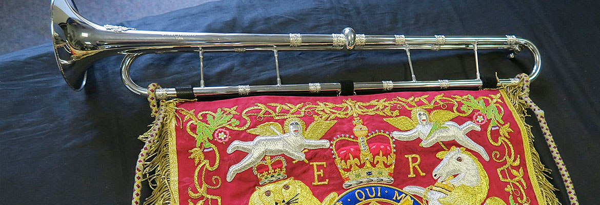 Official royal trumpet.