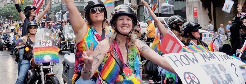 Pride parade participants.