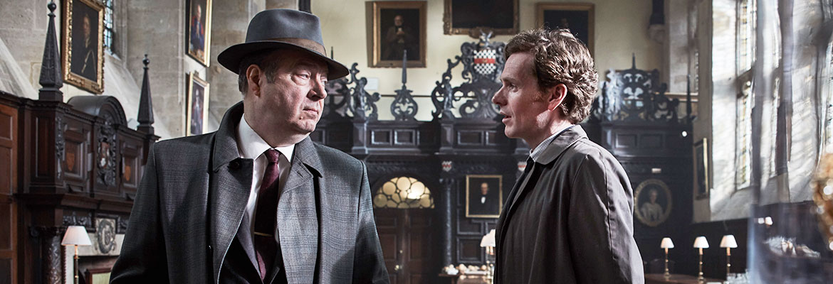 ROGER ALLAM as Detective Chief Inspector Fred Thursday and SHAUN EVANS as Detective Sergeant Endeavour Morse.