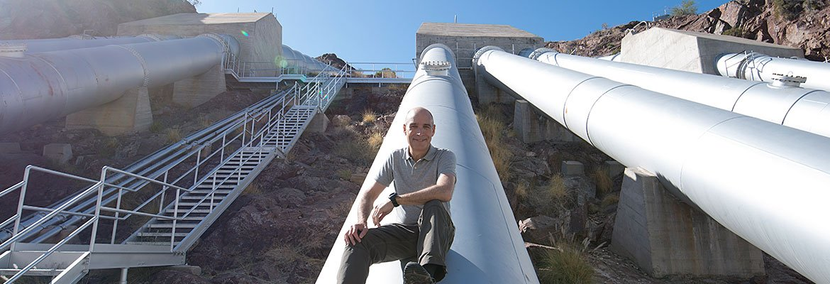 Geoffrey Baer at the Colorado River Aqueduct.