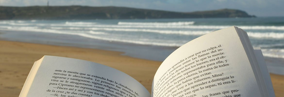 A book at the beach.