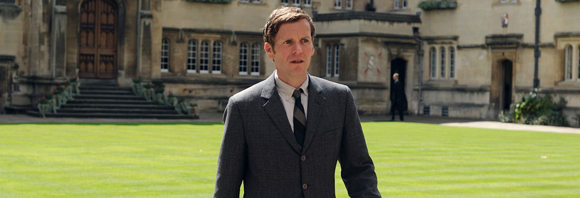 Shaun Evans as Endeavour Morse.