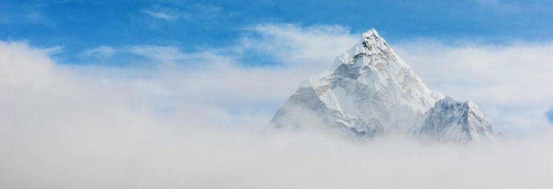 Himalaya mountain top.