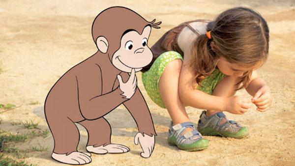 Curious George and little girl