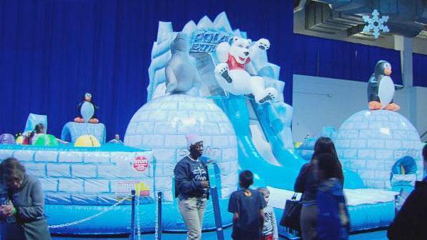 Slides at Navy Pier's Winter WonderFest