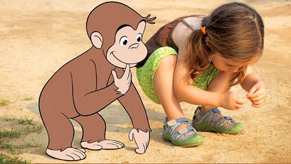 Curious George and his friend.