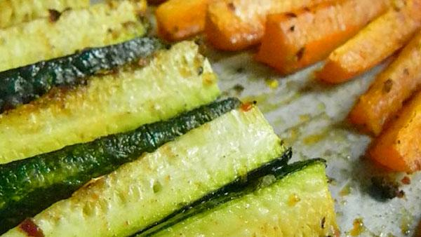 Carrot and Zucchini Fries.