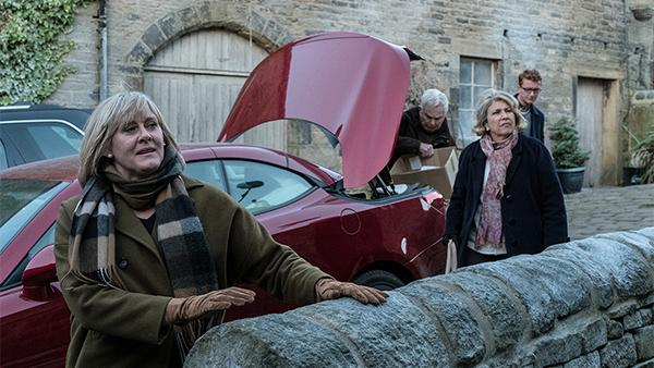 Last Tango in Halifax with Sarah Lancashire, Anne Reid, and Derek Jacobi. Photo: BBC/Red Productions/Matt Squire