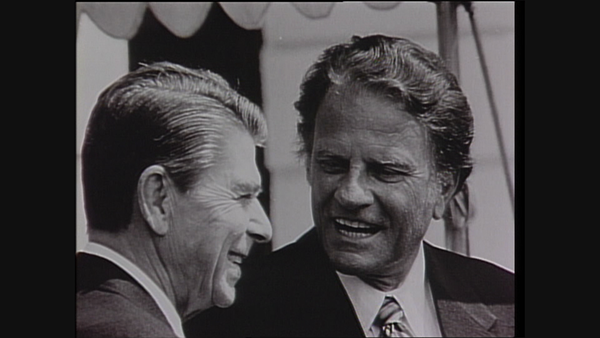 Billy Graham with President Ronald Reagan