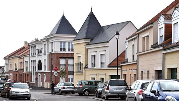 A section of the northern French mining town of Courrières redesigned by the Breitmans to make it more accessible and livable