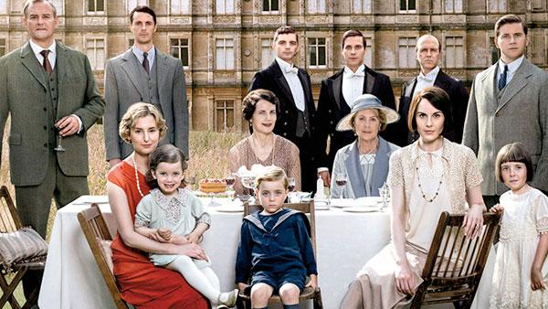 The Crawley family and others.