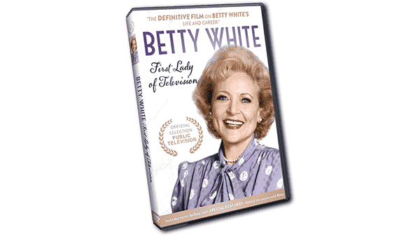 Betty White smiling on the cover of the DVD