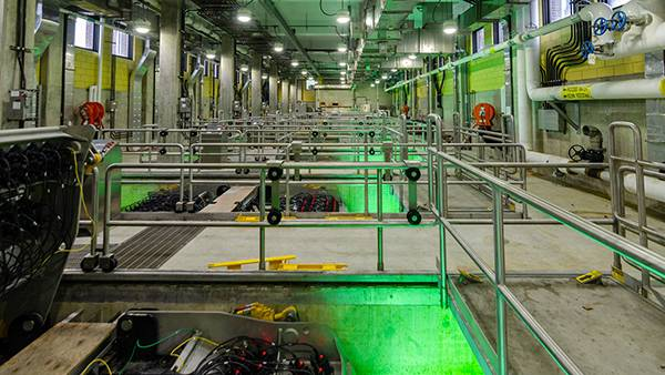 Chicago's Terrence J. O'Brien Water Reclamation Plant. Photo: Eric Allix Rogers
