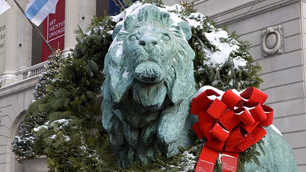 Wreathed lion. Photo: Art Institute of Chicago