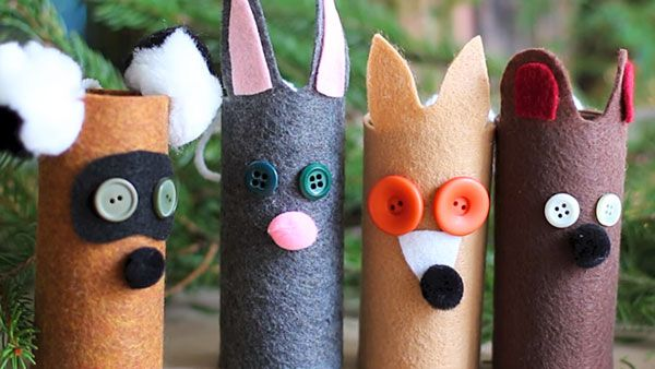 Homemade Woodland Creature Ornaments
