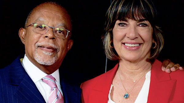Henry Louis Gates, Jr. with Christiane Amanpour on Finding Your Roots. McGee Media/Ark Media
