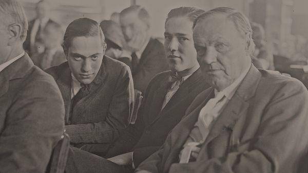 Clarence Darrow with Leopold and Loeb. Photo: Chicago History Museum