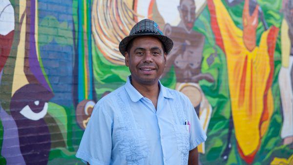 Eduardo Arocho in Humboldt Park. Photo: Kaitlynn Scannell