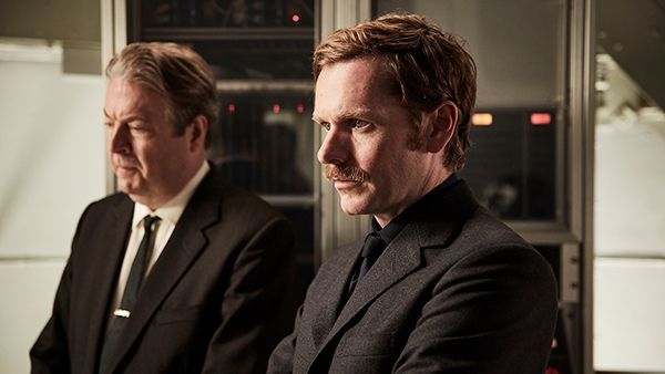 Thursday and Morse in Endeavour. Photo: Jonathan Ford and Mammoth for ITV and MASTERPIECE