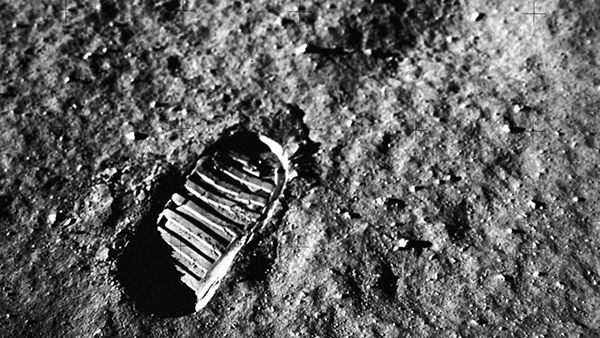 Neil Armstrong's footprint on the moon. Photo: Courtesy of NASA