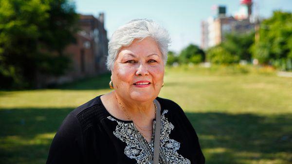 Longtime Pilsen community activist Teresa Fraga