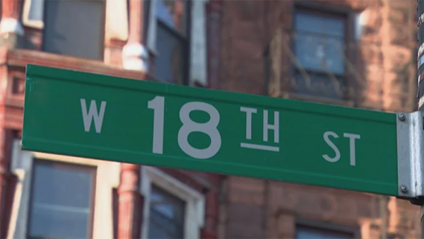 A Chicago street sign reading West 18th Street. Photo by WTTW News