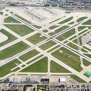 Midway runways.