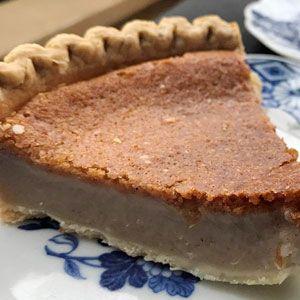 A slice of Imani's Original bean pie