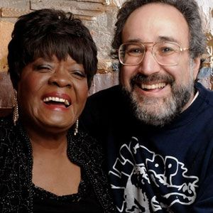 Bruce Iglauer with one of Alligator's staunchest artists, Koko Taylor, who also earned the label its first Grammy nomination. Photo: Alligator Records/Marc Norberg