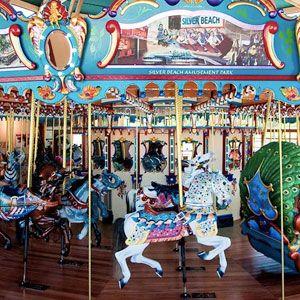 The Silver Beach carousel in St. Joseph, Michigan