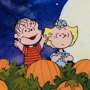 Linus and Sally in the pumpkin patch