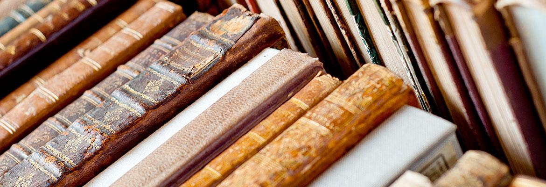 Vintage book spines.