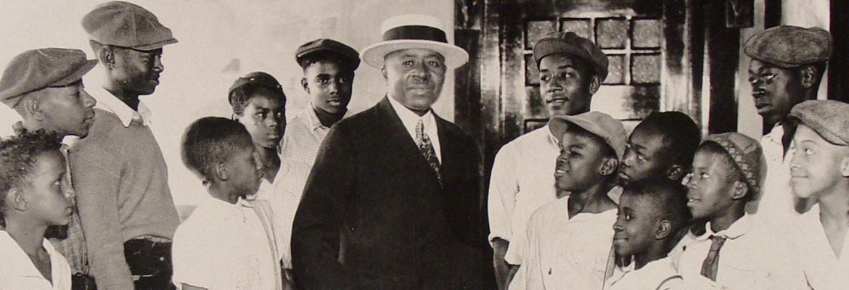 Robert Abbott and his newsboys.